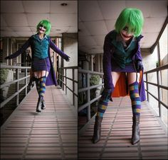 Female Joker - Batman: The Dark Knight cosplay by Tenshila Halloween Kostüm Joker, Halloween Fashion, Couple Halloween Costumes, Halloween Cosplay, Halloween Outfits, Cool Costumes, Costumes For Women, Halloween Ideas, Costume Ideas