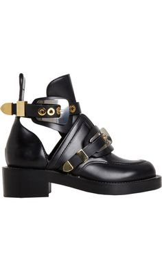 If I ever need heavy duty boots, maybe not steel toed, but steel-esque... ;) Balenciaga Buckle Ankle Boot - Barneys