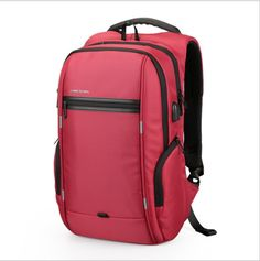 2017 Fashion brand 15.6'' Men Laptop Backpack External USB Charge Antitheft Computer Backpacks Male Waterproof Bags #Affiliate