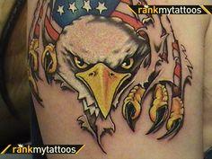 eagle+tattoos | Eagle Flag Tattoo Eagle Tattoo