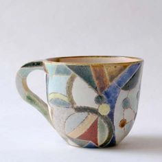 stained glass with a stone texture - hand painted mug | Asano Satoshi