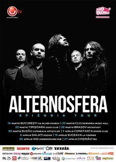 Albumul EPIZODIA al formatiei ALTERNOSFERA din Republica Moldova va fi lansat in Ziua Internationala PI (π), respectiv luna 3, ziua 14, ocazie cu care va avea loc si primul concert din EPIZODIA TOUR. In Iasi vor canta pe 20 aprilie, in Underground Pub.