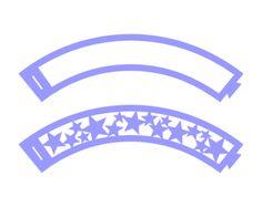 cupcake wrapper frame star