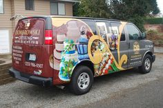 WrapJax.com - Partial vehicle wrap on Chevy Express van for Dombrowski Catering Company