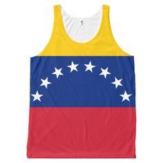 Flag of Venezuela - Bandera Venezolana All-Over-Print Tank Top custom gift ideas diy