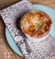 Super Quick Chicken Pot Pie - I added an easy cheddar biscuit dough instead of the puff pastry for the top