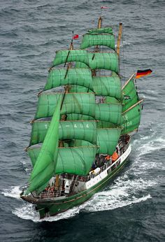 Tall ship - the Alexander von Humboldt Photographed leaving Newcastle during the Tall Ships Race...