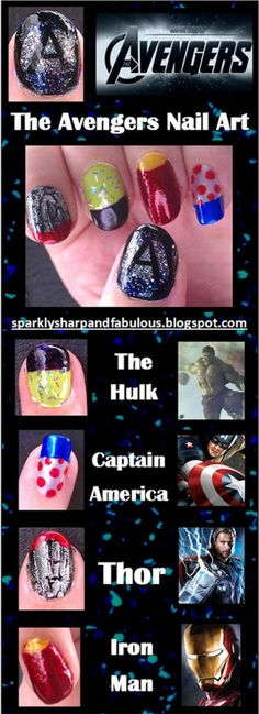 Simple-step-by-step-Avengers-nail-art-tutorials-for-beginners-2014