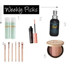 Weekly Picks: Beauty Edition! by zooshoo on Polyvore featuring beauty, Benefit, La Mer, Bumble and bumble, travel, Beauty, makeup, TrendAlert and picks