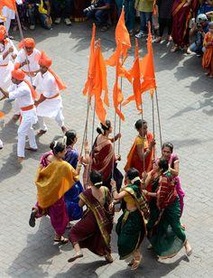 Gudi Padwa, Maharashtrian New Year celebrations #Hindu #Festival #NewYear #India #Maharashtra #Mumbai