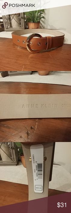 "Anne Klein Belt NWT Brown belt gold buckle Size M 40"" long 32"" closest hole 36"" last hole. Anne Klein Accessories Belts"