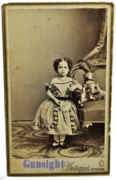 Civil War Vintage CDV Photograph – Little Girl with Doll | eBay