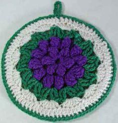 Best Free Crochet » Free Crochet Pattern Grape Cluster Potholder