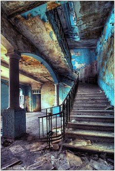 Inside an abandoned hotel in Abkhasia, Southern Russia