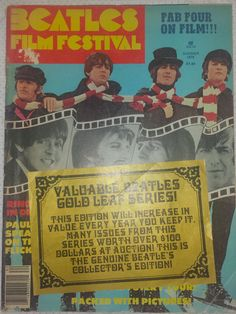 The Beatles Film Festival Magazine Summer 1978 Issue With Gold Sticker On Cover