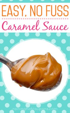 Easy, No Fuss Caramel Sauce - Raining Hot Coupons . and gluten free! Easy Carmel Sauce, Carmel Sauce Recipe, Homemade Carmel Sauce, Homemade Sauce, Thick Caramel Sauce Recipe, Caramel Sauce For Apples, Caramel Filling For Cake, Baking Recipes, Dessert Recipes