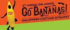 Del Monte Banana Halloween Costume Sweepstakes (1,125 Prizes!) - http://freebiefresh.com/del-monte-banana-halloween-costume-sweepstakes-1125-prizes/
