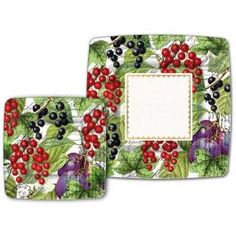 Michel Design Works - Currant Luncheon / Dessert Paper Plates - Paper Plates - Product Categories