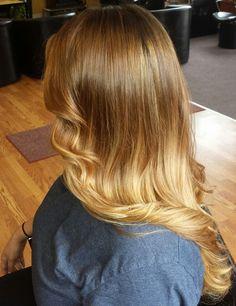 Hair by jammie sue gorgeous warm balayage ombré #balayage