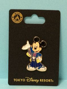 Tokyo Disney Resort New Pin badge Mickey 2016 New Year Party Japan Kimono Free  #TokyoDisneyResort