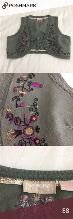 Embroidered vest Personal identity Embroidered vest small. Tops