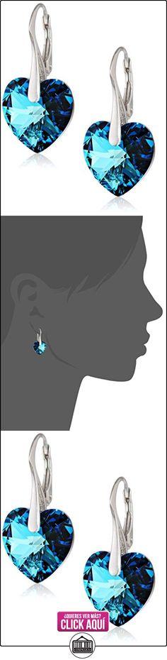 LillyMarie Pendientes para mujer plata de ley 925, con Elementos Swarovski azul, Corazón, con caja de joyas  ✿ Joyas para mujer - Las mejores ofertas ✿ ▬► Ver oferta: http://comprar.io/goto/B00KBNVPZU