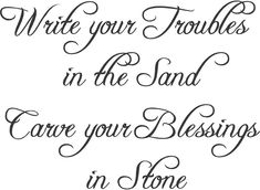Troubles and Blessings or Sand and Stone