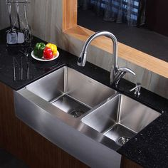 Genial Kraus 36 Inch Farmhouse Stainless Steel Sink And Faucet Modern Kitchen Sinks