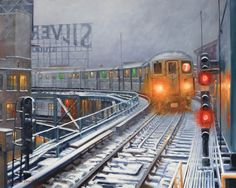 Realist oil NYC paintings and artist's new series with nature and botanicals New Series, New York City, Nyc, Train, Studio, Canvas, Nature, Painting, Silver