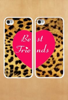 Leopard Decal best friends Photo iPhone by manyfriendshappy, $9.99