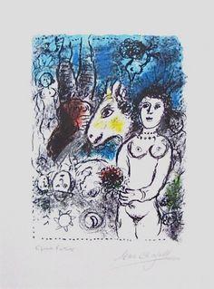 Nu Au Petit Bouquet (M.1027) | From a unique collection of figurative prints at https://www.1stdibs.com/art/prints-works-on-paper/figurative-prints-works-on-paper/