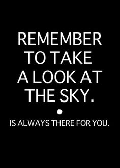 take a look at the sky