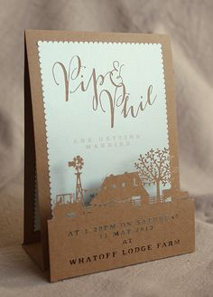 Stunning laser cut wedding invite | Phireflyer