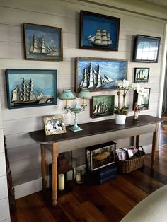 Nantucket house tour ship dioramas