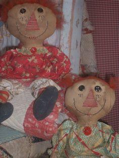 primitive doll patterns | Primitive Raggedy Ann PATTERN Cloth Annie by polkadotpigprims