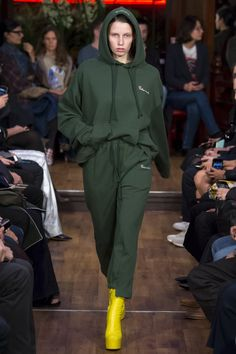 I hate the colors but Vetements is a big influence on my sense of trending fashion right now