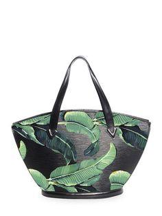 d41e1019c97 Hand Painted  Tropical Leaves  Customized Black Epi Saint Jacques PM by  Louis Vuitton at