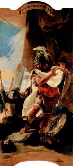 Giovanni Battista Tiepolo   Asdrubal Carthage, Italian Painters, Rococo Style, Art Database, Twitter, Austria, Horses, History, Gallery