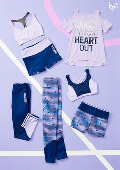 The most current dancewear and an incredible leotards, jazz, touch and party footwear, hip-hop apparel, lyricaldresses. Justice Girls Clothes, Girls Sports Clothes, Justice Clothing, Kids Outfits Girls, Cute Girl Outfits, Girls Fashion Clothes, Tween Fashion, Sporty Outfits, Athletic Outfits