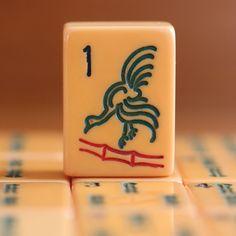 Vtg, 1920-30s Rottgames Chicken Bam, 152 Catalin Tiles Mahjong Set, Racks, Case