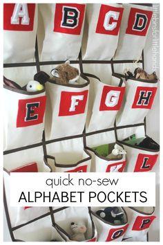 How To Make No Sew Hanging Alphabet Pockets