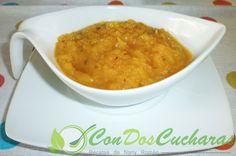 ConDosCucharas.com Salsa de papaya agridulce - ConDosCucharas.com Ethnic Recipes, Food, Seafood, Vegetables, Tropical Fruits, Vitamin E, Ethnic Food, Kitchens, Meals