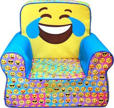Idea Nuova Kids Foam Chair w/Round Back Emoji Pals - Crying, Multi-Color
