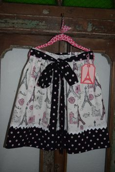 Eiffel Tower Pink and Black Apron by LaPetiteBoutique101 on Etsy