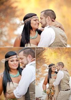 Fall Wedding Fairy Tale - Pocahontas - Sassy Princess Bride Series - Sassy Mouth Krystalized Designs