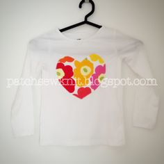 Patch, Sew and Knit!: Girl's shirt with a heart patch, Marimekko Mini Un...