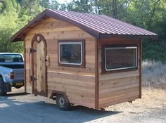 A tiny house camper made with sustainable materials and just pretty cool to look at.