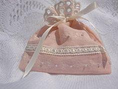 lavender sachet from vintage hankie