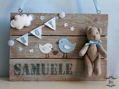 Name sign for bsby Felt Crafts, Diy And Crafts, Do It Yourself Baby, Baby Shawer, Kids Corner, Baby Party, Baby Decor, Diy For Kids, Baby Room