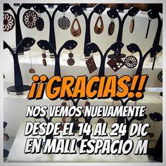 Muchas gracias por sus comprasvisitas y hermosas palabras!! Nos vemos próximamente en Mall Espacio M desde el 14 al 24 de diciembre! jojojoooo!!!  #altorrelieve #feria #expo #mallespaciom #aros #conjuntos #chakras #mandalas #madera #rauli #aceroquirurgico #acero #kit #set #aros #pulseras #collar #colgante #flordelavida #love #enjoy #life #behappy #earring  #necklace #mall